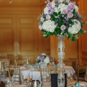 Purple Pedestal Centerpiece