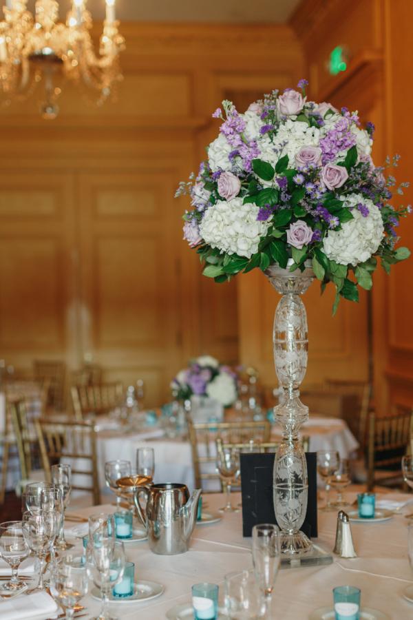 Purple Pedestal Centerpiece