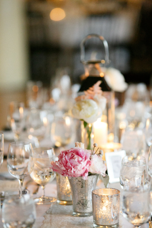 Silver and Pink Centerpiece