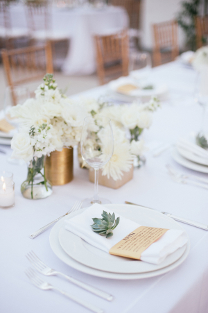 Succulent at Place Setting