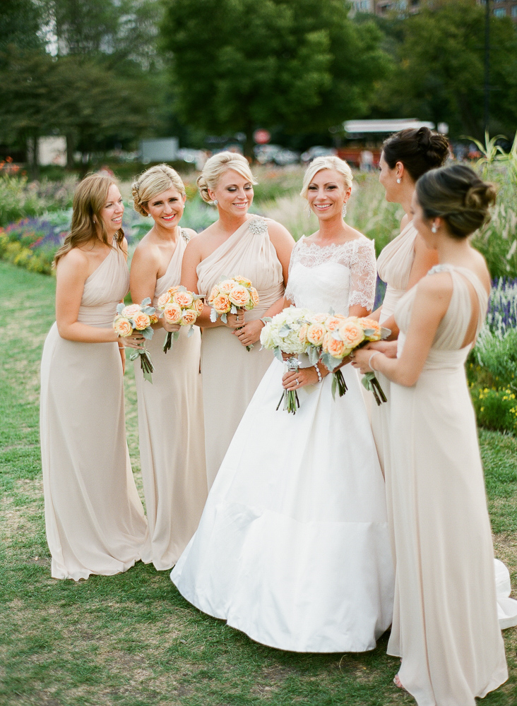 Taupe One Shoulder Bridesmaids Dresses