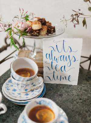 Tea and Scones at Wedding