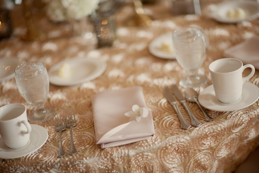 Textured Table Linens Reception Decor Elizabeth Anne