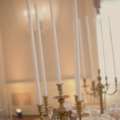 Vintage Gold Candlesticks