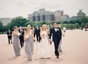 Wedding Party in Grant Park