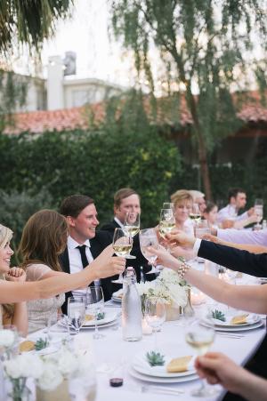 Wedding Reception Under String Lights 1