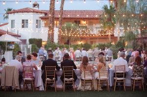 Wedding Reception Under String Lights 4