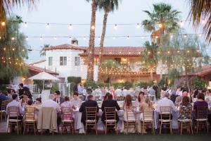 Wedding Reception Under String Lights 6