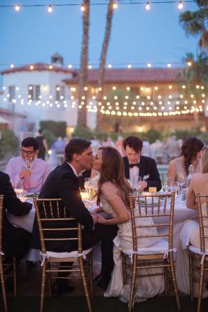 Wedding Reception Under String Lights 7
