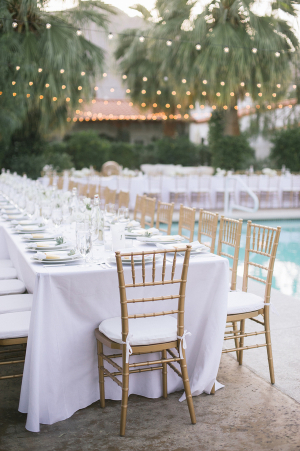 Wedding Reception by Pool