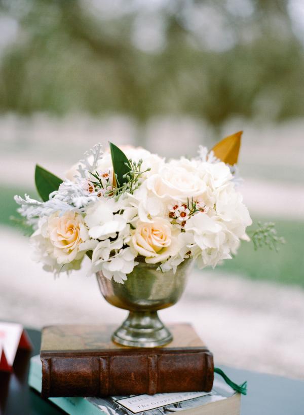 Amber and Cream Wedding Flowers