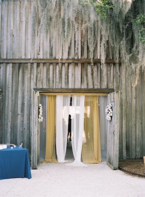 Barn Wedding Entrance