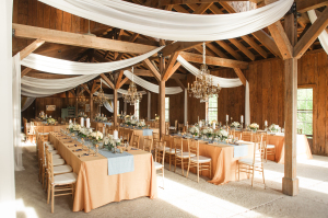 Barn Wedding with Gold Accents