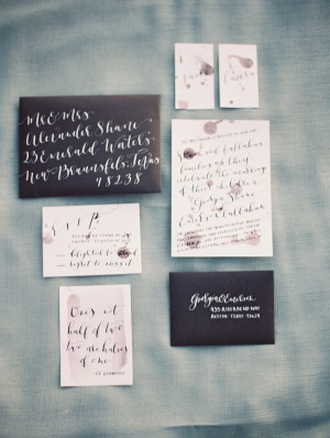 Black and White Modern Wedding Invitations