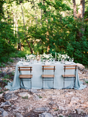 Blue Linens for Wedding