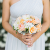 Blue One Shoulder Bridesmaids Dress