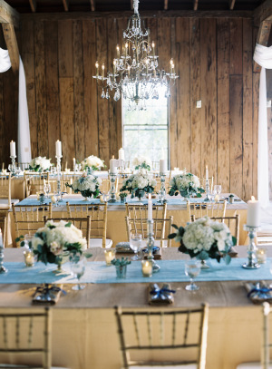 Blue and Gold Barn Wedding