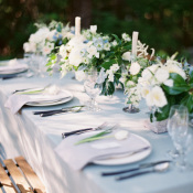 Blue and Green Wedding Table