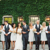 Bridal Party in Blue and Gray