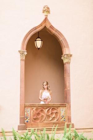 Bride at the Ringling Mansion