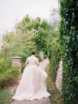 Bride in Augusta Jones Gown