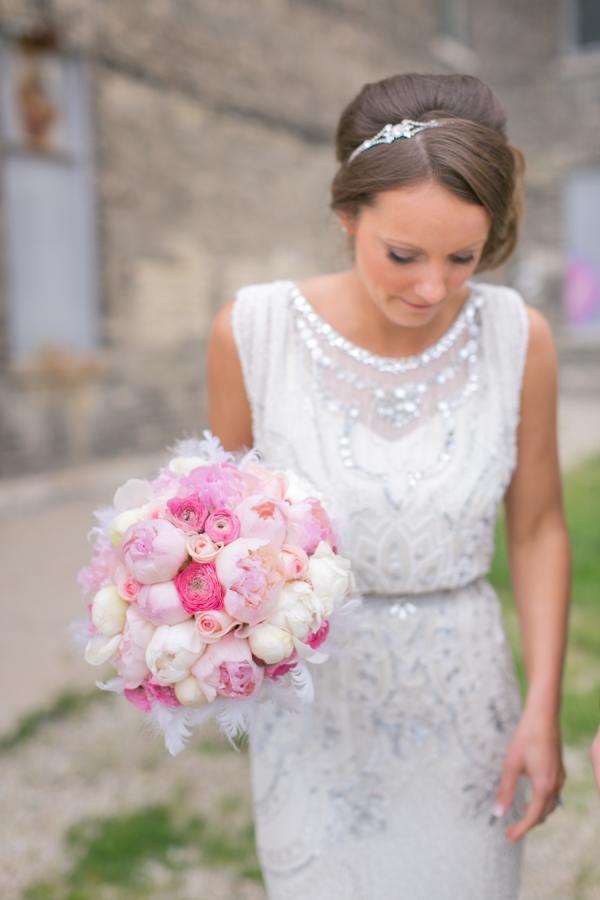 Bride in Jenny Packham
