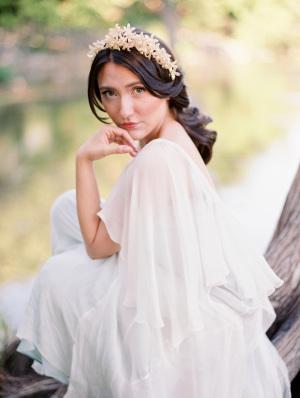 Bride in Pearl Headpiece