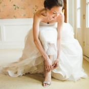 Bride in Silver Sandals