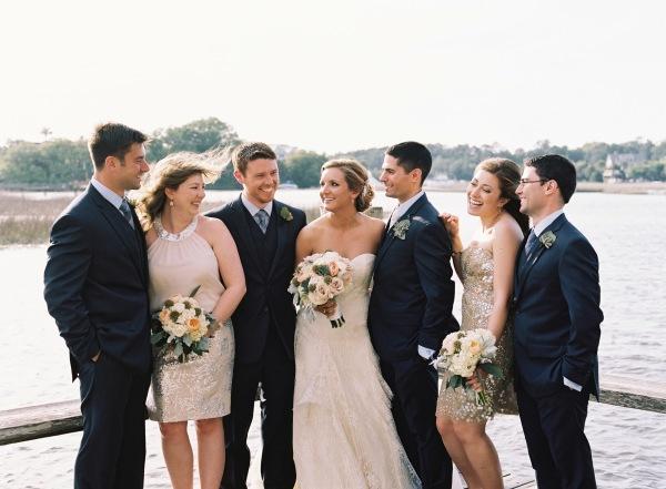 Bridesmaids in Rose Gold