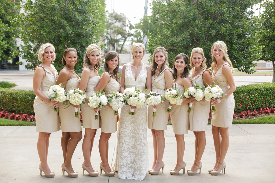 Champagne Bridesmaid Dresses Shoes
