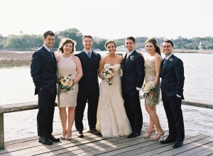Champagne and Gray Bridal Party