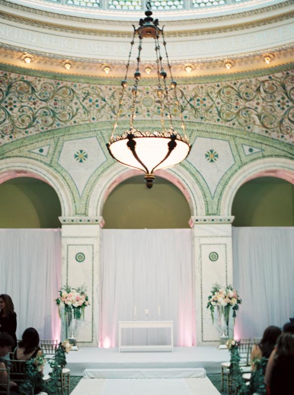 Chicago Cultural Center Wedding Ceremony