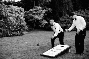 Cornhole at Wedding