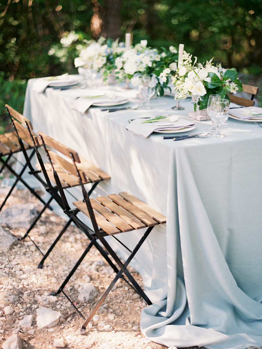 Dusty Blue Wedding Linens Elizabeth Anne Designs The