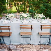 Dusty Blue Wedding Table
