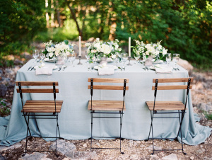 Dusty Blue Wedding Table