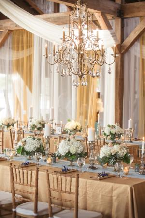 Elegant Gold Barn Wedding