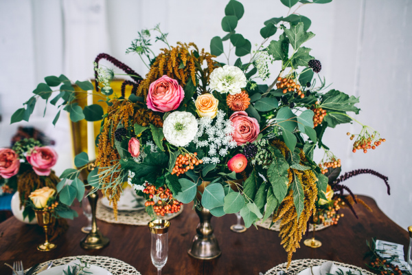 Exotic Autumn Centerpiece