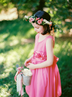 Flower Girl in Hot Pink