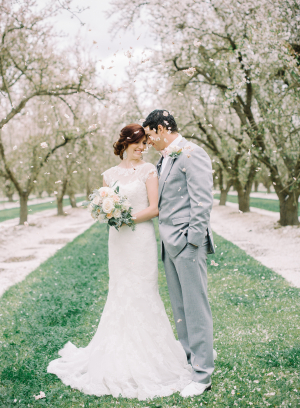 Flower Petal Toss at Wedding