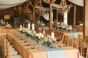 Gold Accents Barn Wedding