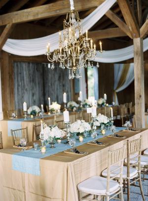Gold Barn Wedding Reception