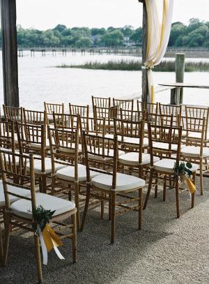 Gold Chivari Chairs at Wedding