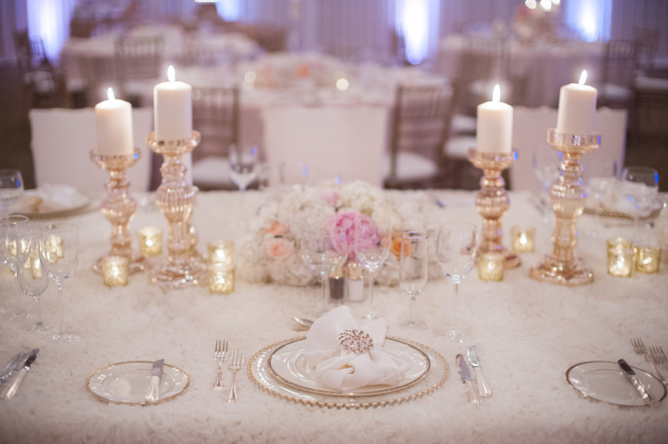 Gold Pink and White Reception