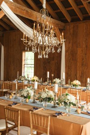 Gold and Aqua Barn Wedding