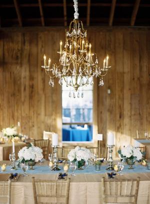 Gold and Aqua Rustic Wedding