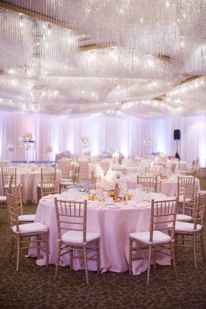 Gold and Pink Ballroom Reception