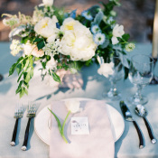 Green and Blue Wedding Table