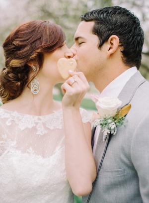 Heart Cookies at Wedding