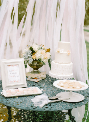 Ivory and Blue Dessert Table